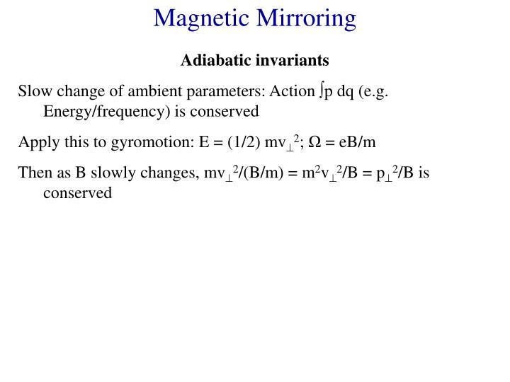 Magnetic Mirroring