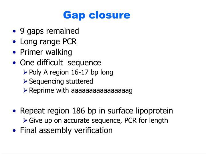Gap closure