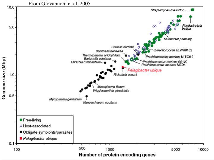 From Giovannoni et al. 2005