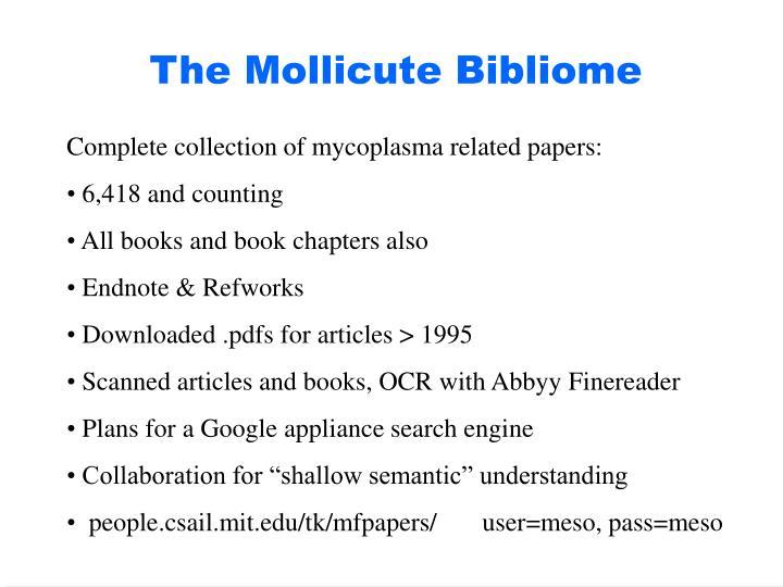 The Mollicute Bibliome