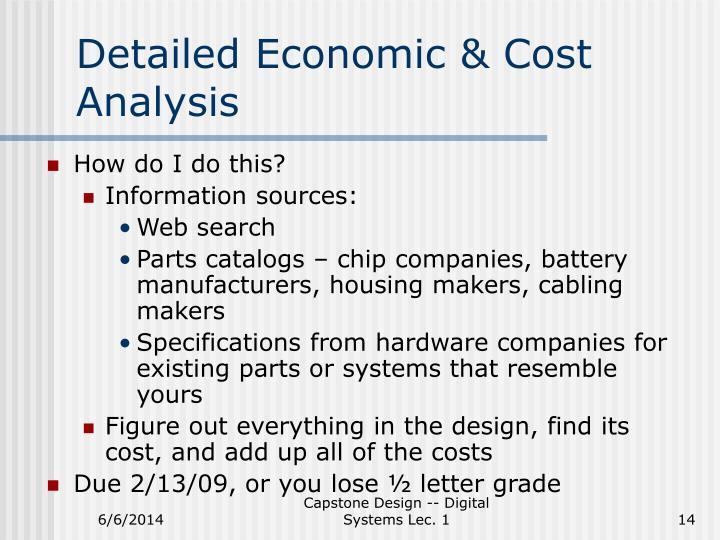 Detailed Economic & Cost Analysis