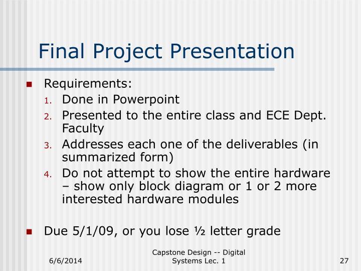 Final Project Presentation