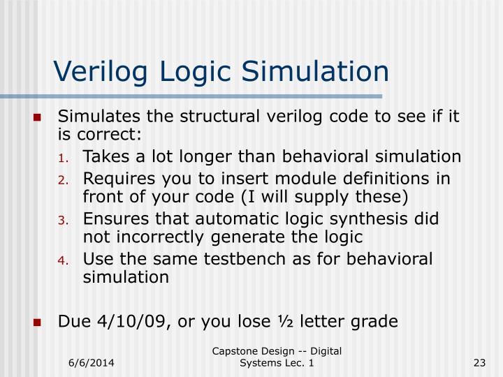Verilog Logic Simulation