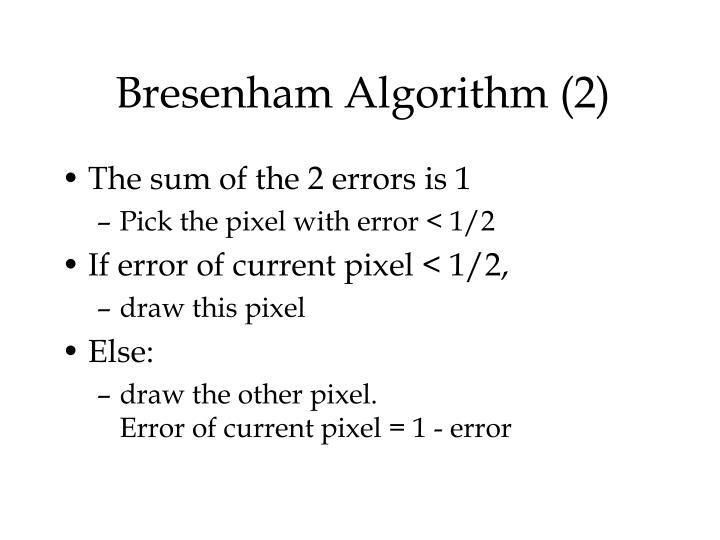 Bresenham Algorithm (2)