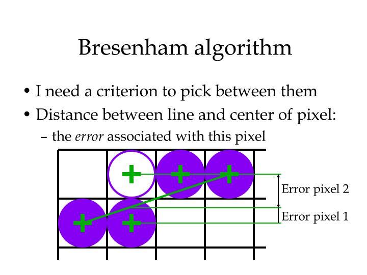 Bresenham algorithm