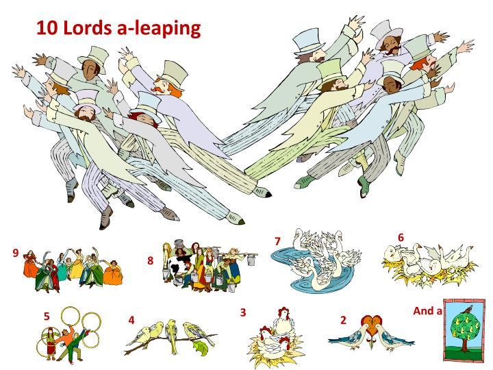 10 Lords a-leaping