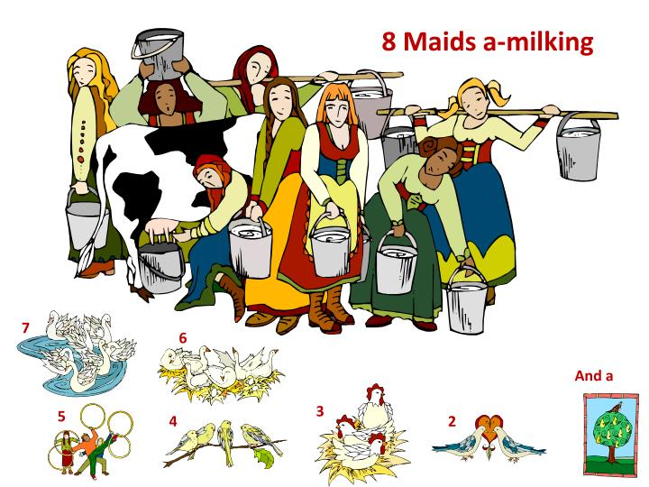 8 Maids a-milking