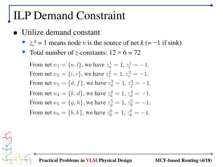ILP Demand Constraint