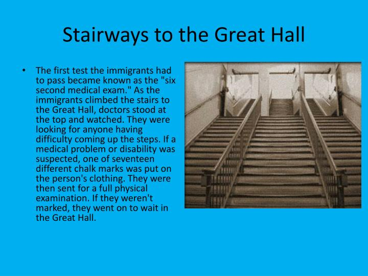 Stairways to the Great Hall