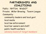 partnerships and coalitions