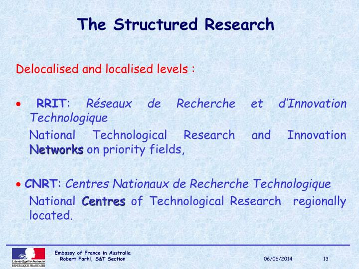 The Structured Research