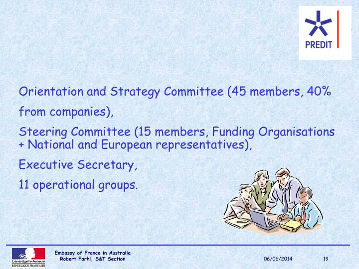 Orientation and Strategy Committee (45 members, 40%