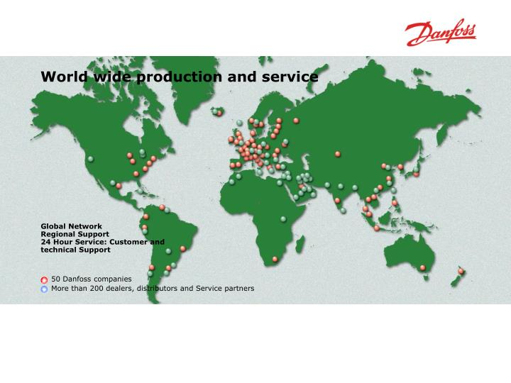 World wide production and service