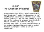 boston the american prototype