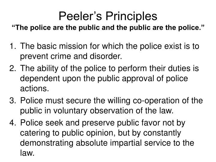 Peeler's Principles