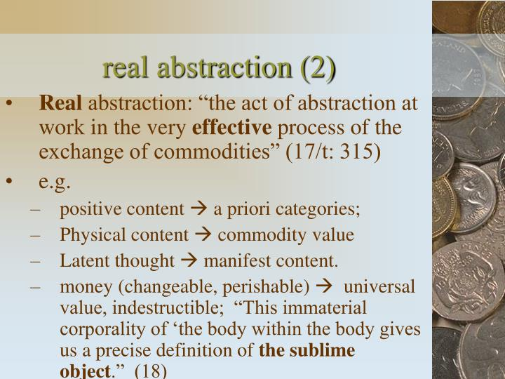 real abstraction (2)