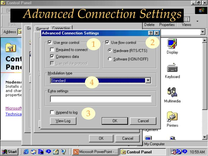 Advanced Connection Settings