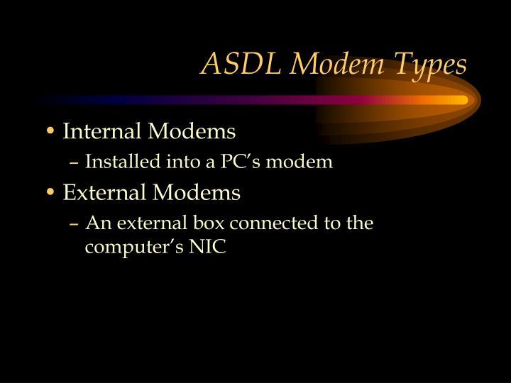 ASDL Modem Types