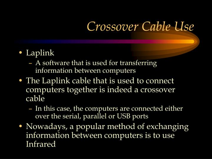 Crossover Cable Use