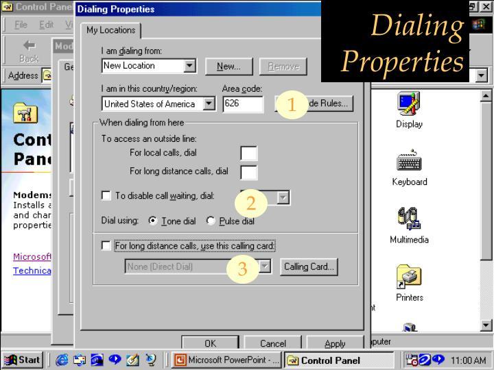 Dialing Properties