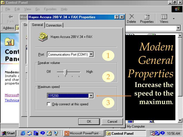 Modem General Properties