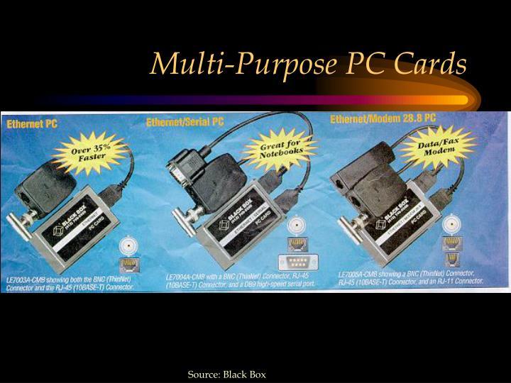 Multi-Purpose PC Cards