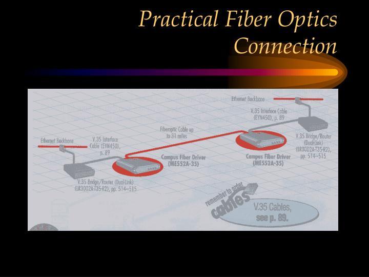 Practical Fiber Optics Connection