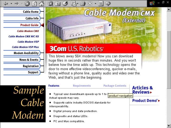 Sample Cable Modem