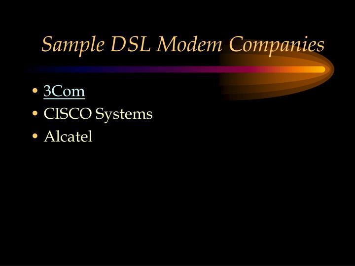 Sample DSL Modem Companies