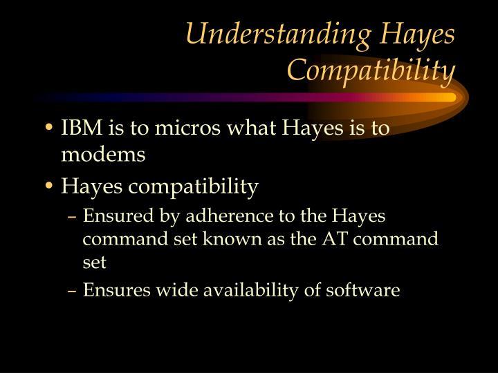 Understanding Hayes Compatibility