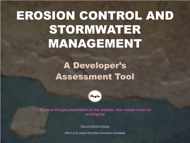 Erosion control and stormwater management