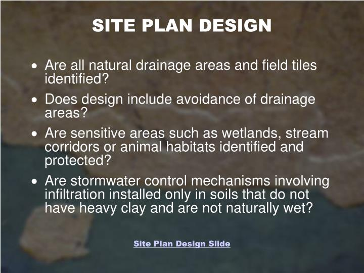 SITE PLAN DESIGN