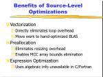 benefits of source level optimizations