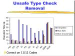 unsafe type check removal