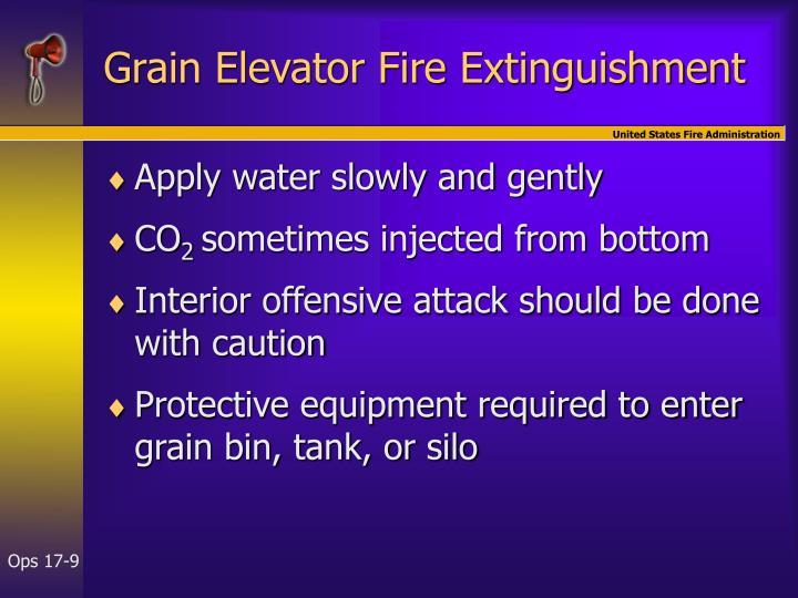 Grain Elevator Fire Extinguishment