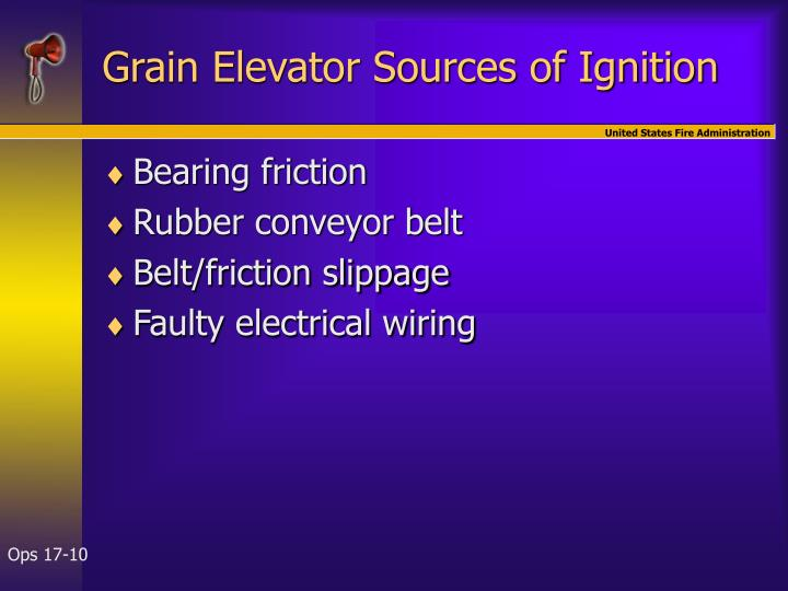 Grain Elevator Sources of Ignition