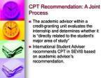 cpt recommendation a joint process