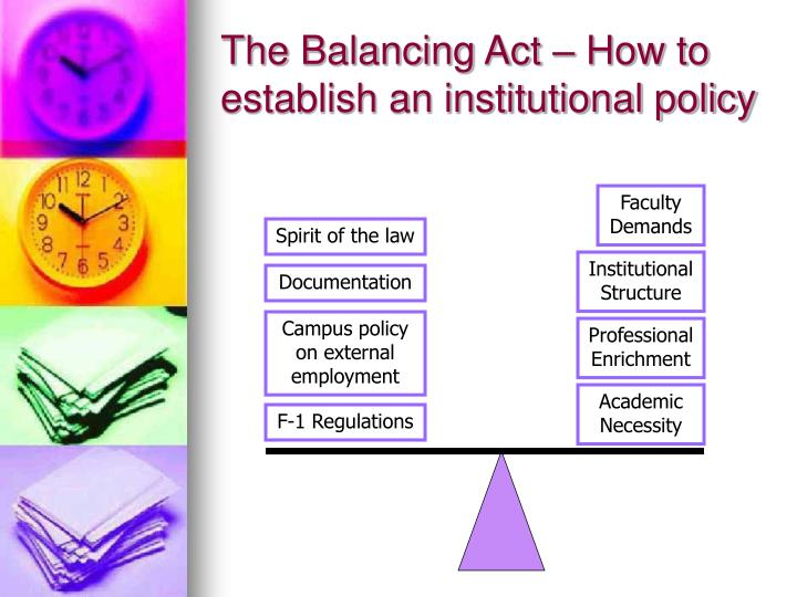 The Balancing Act – How to establish an institutional policy