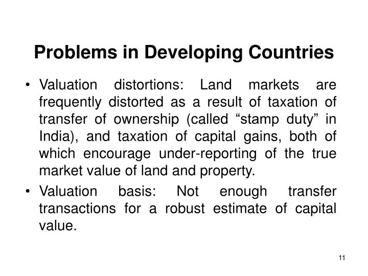 Problems in Developing Countries