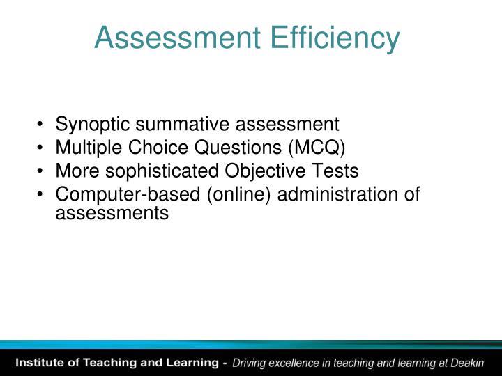 Assessment Efficiency