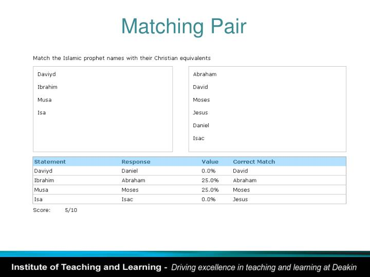 Matching Pair