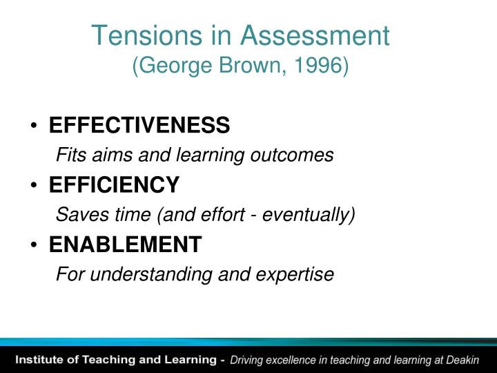 Tensions in Assessment