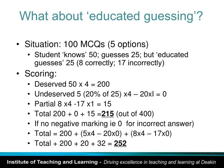 What about 'educated guessing'?