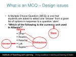 what is an mcq design issues http www le ac uk castle resources