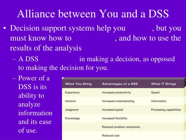Alliance between You and a DSS