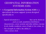 geospatial information systems gis