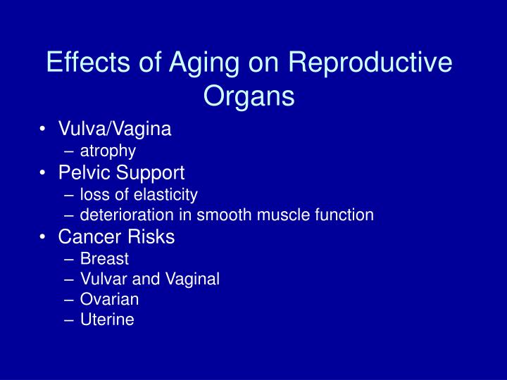Effects of Aging on Reproductive Organs