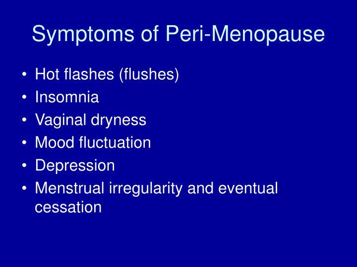 Symptoms of Peri-Menopause