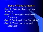 basic writing chapters