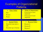 examples of organizational patterns